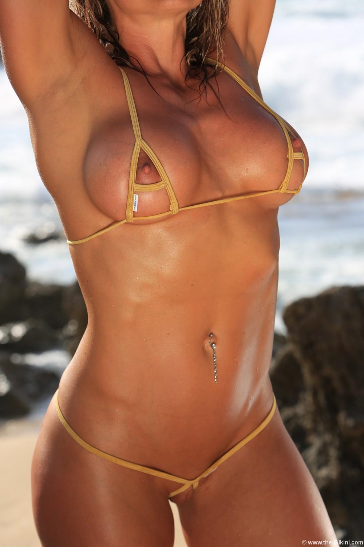 Skimpy thong bikinis
